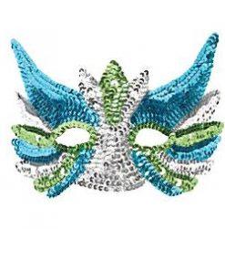 Silver Sequin Eye Mask