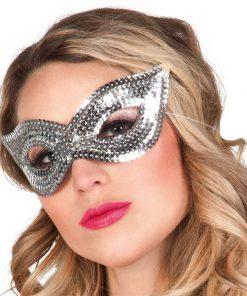 Silver Sequin Eye Masquerade Mask