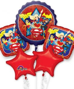 Super Hero Girls Party Bouquet Foil Balloons