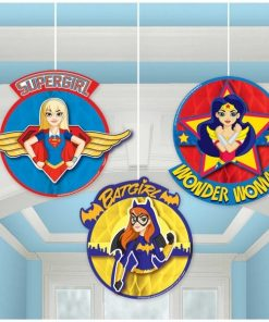 Super Hero Girls Party Hanging Honeycomb Decoration