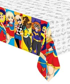 Super Hero Girls Party Plastic Tablecovers