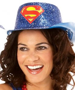 Supergirl Glitter Cowboy Hat