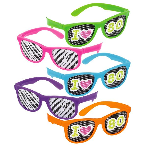 Totally 80s Glasses with Printed Lens