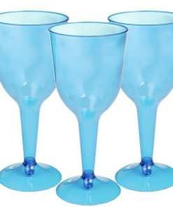 Turquoise Plastic Wine Glasses