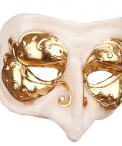 White & Gold Masquerade Mask