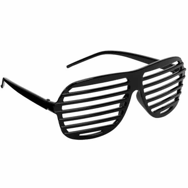 Black Slatted Glasses