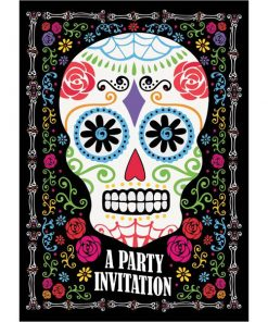 Halloween Day of the Dead Party Invites