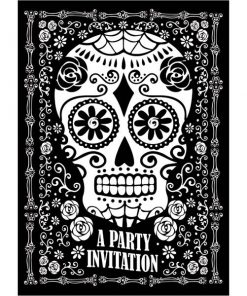 Halloween Day of the Dead Party Invitations