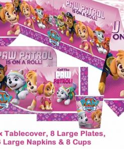 Paw Patrol Pink Party Pack for 8