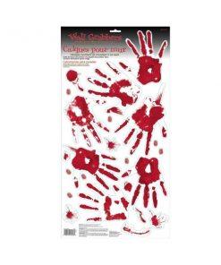 Halloween Bloody Skeleton Hand Prints