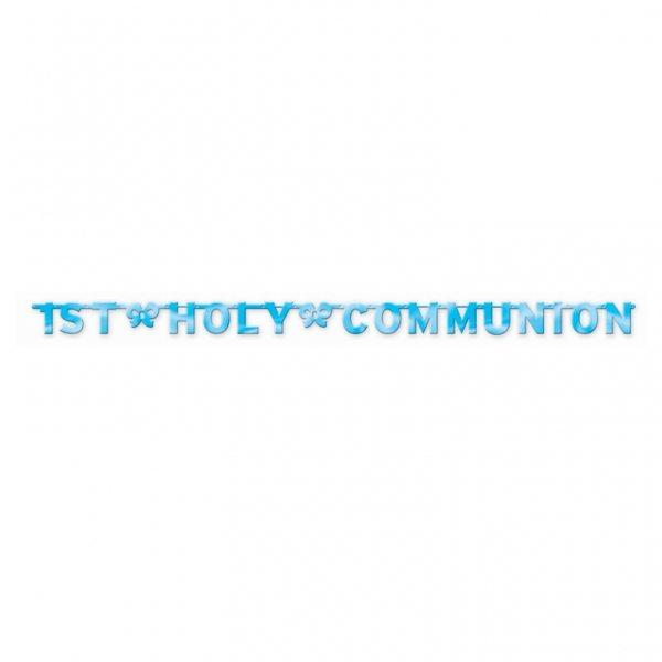 Blue Holy Communion Letter Banner