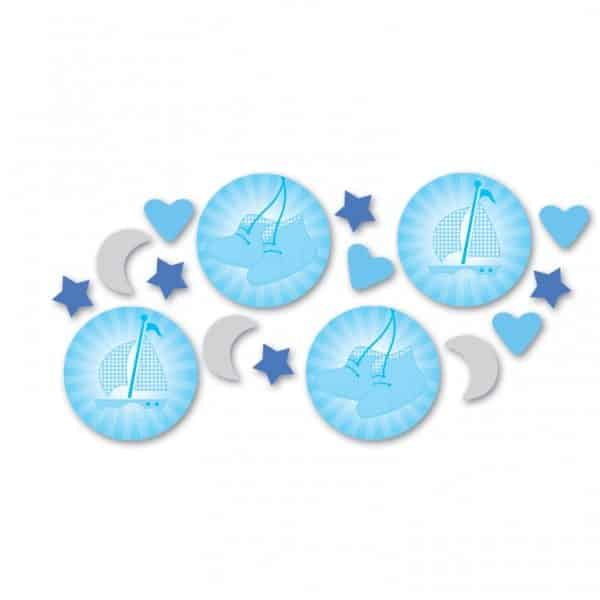 Christening Booties Blue Party Table Confetti