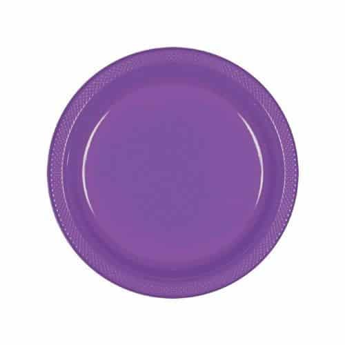 Purple Party Plastic Dessert Plates