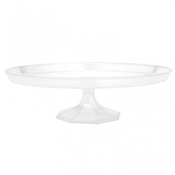 Clear Plastic Dessert Cake Stand