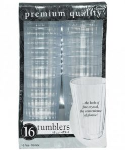 Clear Plastic Tumbler Glasses