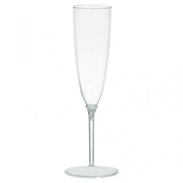Clear Plastic Champagne Glasses