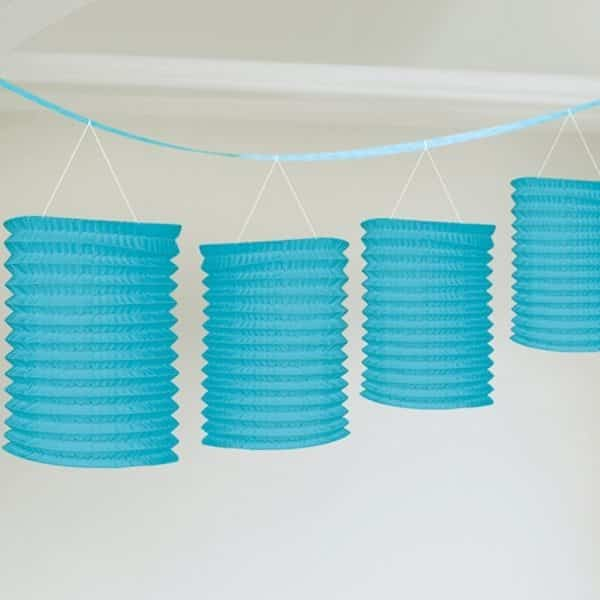 Turquoise Party Paper Lantern Garland Decoration