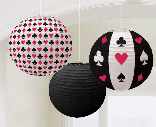 Casino Night Party Paper Lanterns