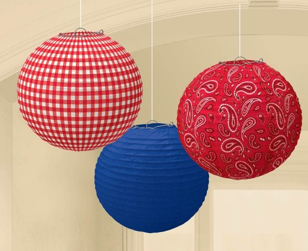 Wild West Party Paper Lanterns