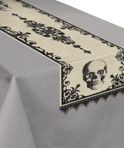 Halloween Boneyard Party Fabric Table Runner