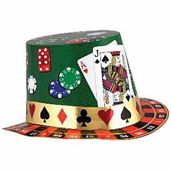 Casino Night Foil Card Hat