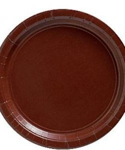 Chocolate Brown Paper Party Plates