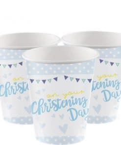 Christening Day Blue Paper Cups