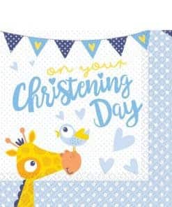 Christening Day Blue Paper Napkins