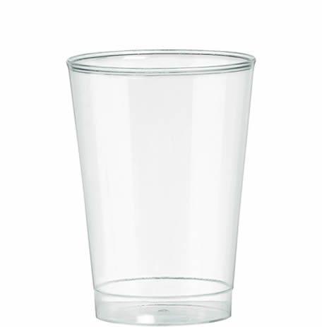 Clear Plastic Tumbler Glasses - 340ml