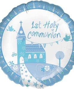 First Holy Communion Blue Foil Balloon