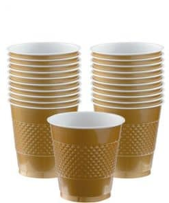 Gold Plastic Party Cups