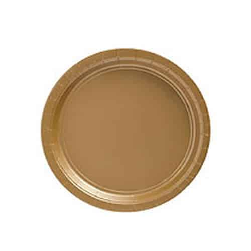 Gold Party Paper Dessert Plates