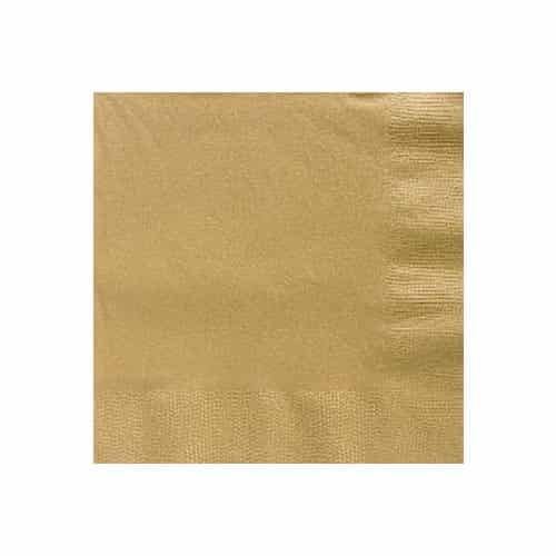 Gold Party Paper Beverage Napkins
