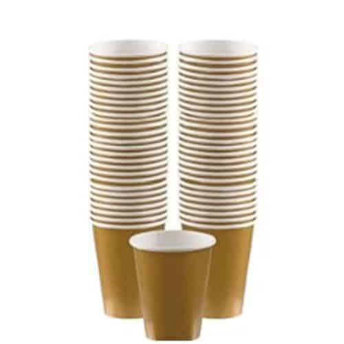 Gold Party Paper Coffee Cups