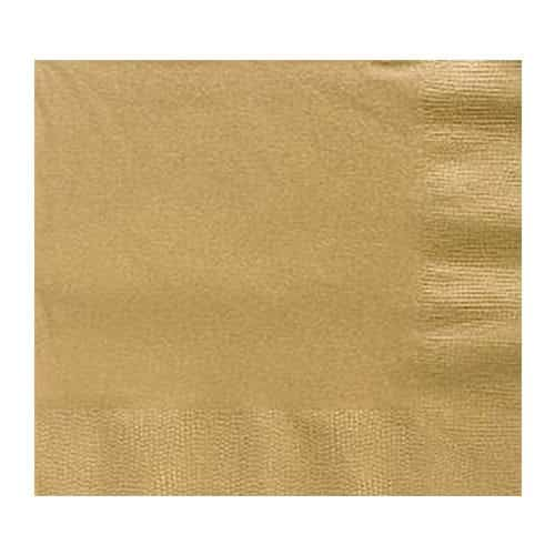 Gold Party Paper Lunch Napkins