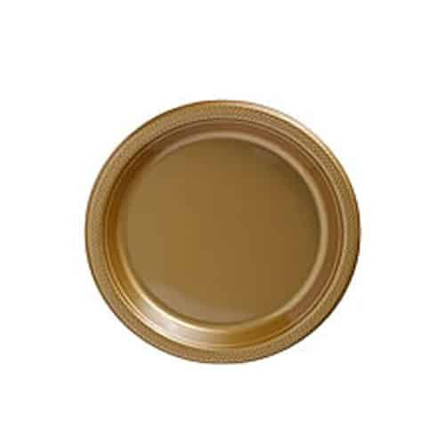 Gold Party Plastic Dessert Plates