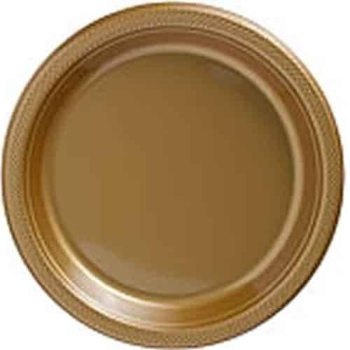 Gold Party Plastic Serving Plates
