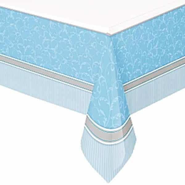 Holy Communion Blessings Blue Party Plastic Tablecover