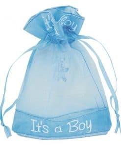 'It's A Boy' Organza Pouch