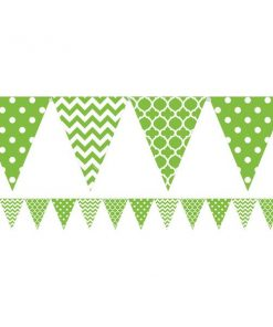 Lime Green Polka Dot & Chevron Party Bunting