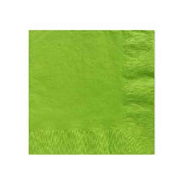 Lime Green Paper Beverage Napkins