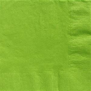 Lime Green Paper Dinner Napkins