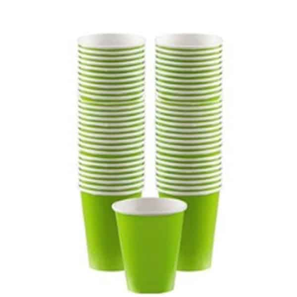 Lime Green Plastic Coffee Cups