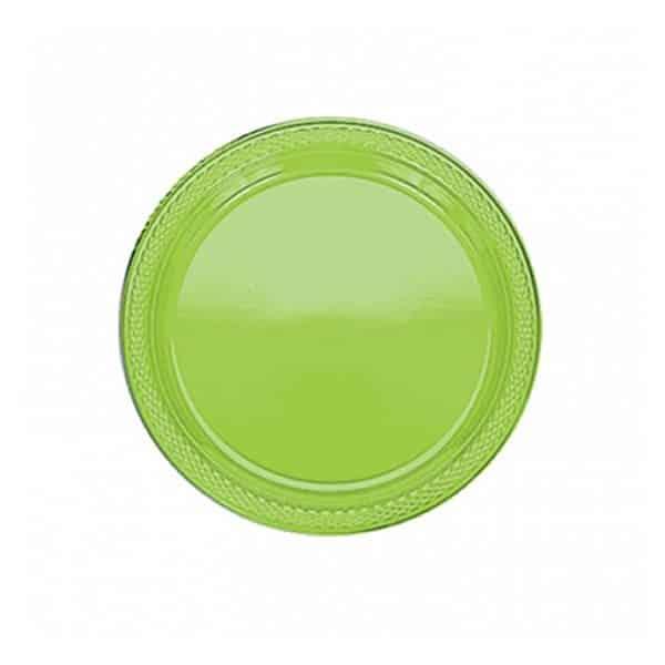 Lime Green Plastic Dessert Plates