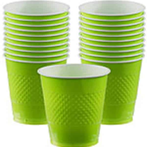 Lime Green Plastic Party Cups