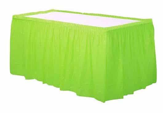 Lime Green Tableskirt