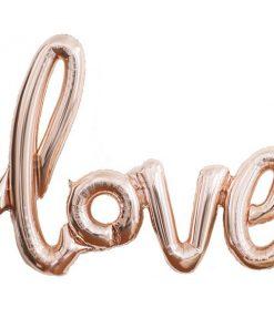 Love Rose Gold Foil Balloon