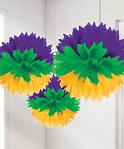 Mardi Gras Party Pom Pom Decorations