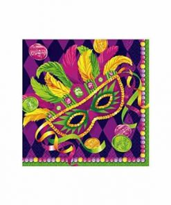 Mardi Gras Masquerade Party Paper Beverage Napkins