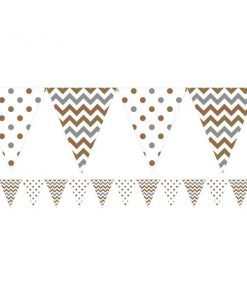 Metallic Polka Dot & Chevron Party Bunting